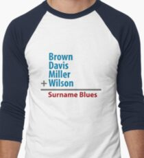 Surname Blues - Brown, Davis, Miller & Wilson Men's Baseball ¾ T-Shirt