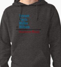 Surname Blues - Brown, Davis, Miller & Wilson Pullover Hoodie