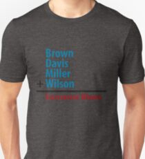 Surname Blues - Brown, Davis, Miller & Wilson Unisex T-Shirt