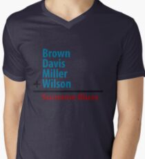 Surname Blues - Brown, Davis, Miller & Wilson Mens V-Neck T-Shirt