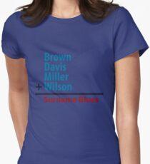 Surname Blues - Brown, Davis, Miller & Wilson Women's Fitted T-Shirt