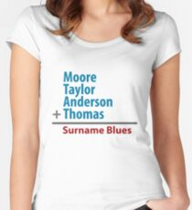 Surname Blues - Moore, Taylor, Anderson, Thomas Women's Fitted Scoop T-Shirt