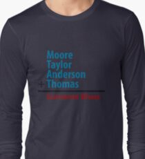 Surname Blues - Moore, Taylor, Anderson, Thomas Long Sleeve T-Shirt