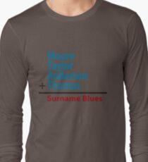 Surname Blues - Moore, Taylor, Anderson, Thomas Long Sleeve T-Shirt