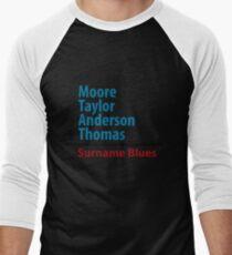 Surname Blues - Moore, Taylor, Anderson, Thomas Men's Baseball ¾ T-Shirt