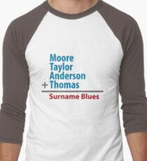 Surname Blues - Moore, Taylor, Anderson, Thomas Men's Baseball ¾ T-Shirt