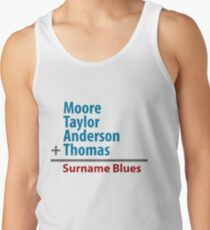 Surname Blues - Moore, Taylor, Anderson, Thomas Tank Top