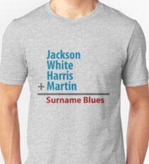 Surname Blues - Jackson, White, Harris, Martin Unisex T-Shirt