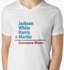 Surname Blues - Jackson, White, Harris, Martin Men's V-Neck T-Shirt