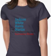 Surname Blues - Jackson, White, Harris, Martin Womens Fitted T-Shirt