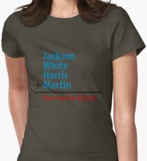 Surname Blues - Jackson, White, Harris, Martin Women's Fitted T-Shirt