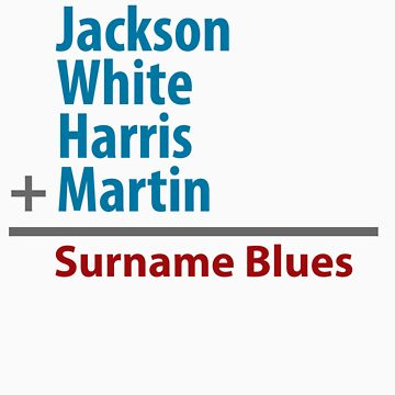 Surname Blues - Jackson, White, Harris, Martin by ns2photography