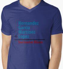 Surname Blues - Hernandez, Garcia, Martinez, Lopez Men's V-Neck T-Shirt
