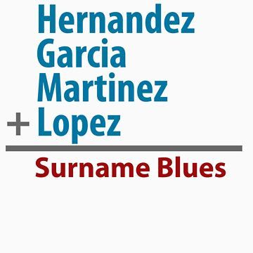 Surname Blues - Hernandez, Garcia, Martinez, Lopez by ns2photography