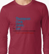 Surname Blues - Thompson, Clark, Lewis, Lee Long Sleeve T-Shirt