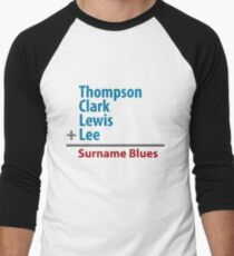 Surname Blues - Thompson, Clark, Lewis, Lee Men's Baseball ¾ T-Shirt