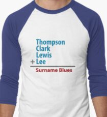Surname Blues - Thompson, Clark, Lewis, Lee Men's Baseball ¾ T-Shirt