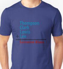 Surname Blues - Thompson, Clark, Lewis, Lee Unisex T-Shirt