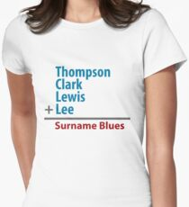 Surname Blues - Thompson, Clark, Lewis, Lee Womens Fitted T-Shirt