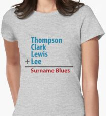 Surname Blues - Thompson, Clark, Lewis, Lee Women's Fitted T-Shirt