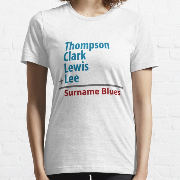 Surname Blues - Thompson, Clark, Lewis, Lee Essential T-Shirt