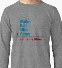Surname Blues - Walker, Hall, Allen, Young Lightweight Sweatshirt