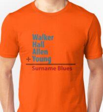 Surname Blues - Walker, Hall, Allen, Young Unisex T-Shirt
