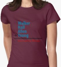 Surname Blues - Walker, Hall, Allen, Young Womens Fitted T-Shirt