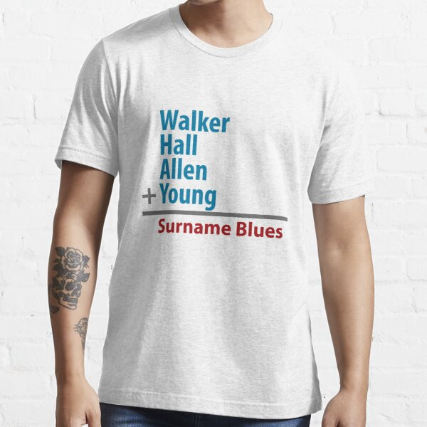 Surname Blues - Walker, Hall, Allen, Young Essential T-Shirt