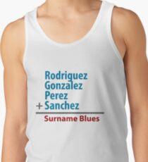 Surname Blues - Rodriguez, Gonzalez, Perez, Sanchez Tank Top