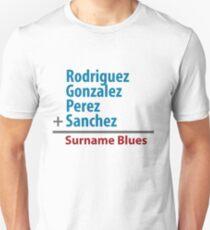 Surname Blues - Rodriguez, Gonzalez, Perez, Sanchez Unisex T-Shirt