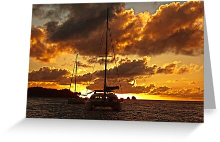 Just an other sunset at anchor by globeboater