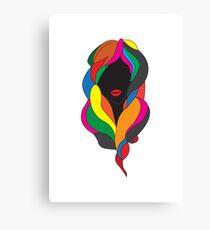 Colorful hair Canvas Print
