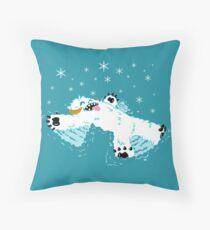 Wampa snow angel  Throw Pillow
