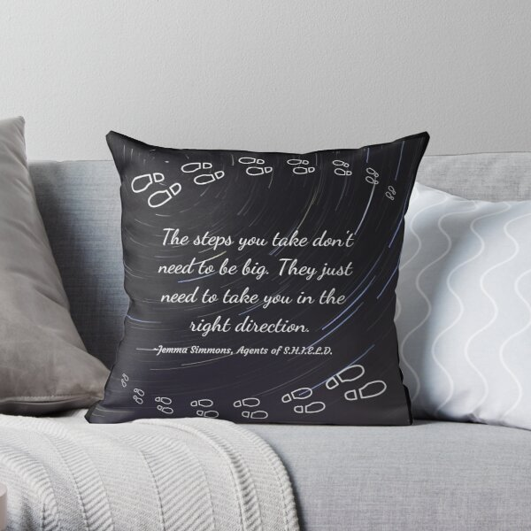 The steps you take black and white Throw Pillow