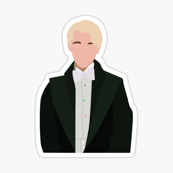 yule ball draco malfoy Sticker