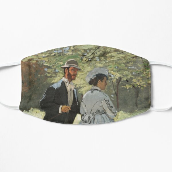 Bazille and Camille (1865) by Claude Monet Flat Mask