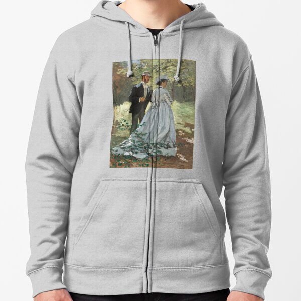 Bazille and Camille (1865) by Claude Monet Zipped Hoodie
