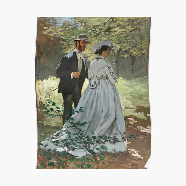 Bazille and Camille (1865) by Claude Monet Poster