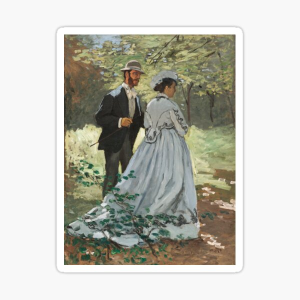 Bazille and Camille (1865) by Claude Monet Sticker