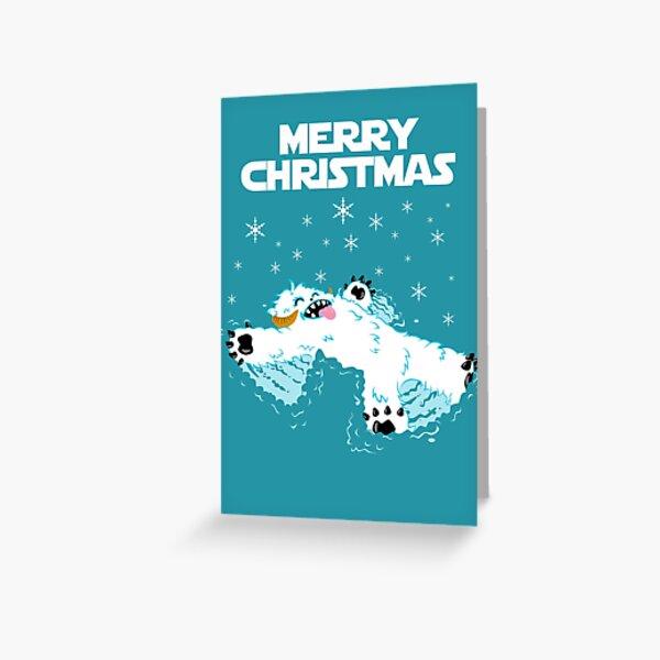 Wampa snow angel christmas card Greeting Card