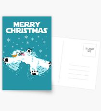 Wampa snow angel christmas card Postcards