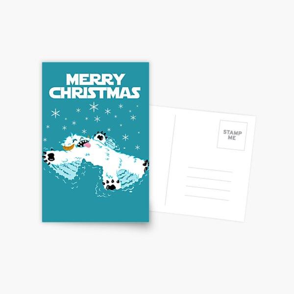 Wampa snow angel christmas card Postcard