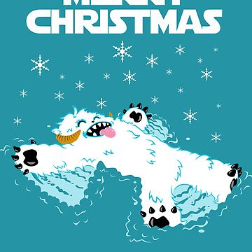 Wampa snow angel christmas card by fromthemindof