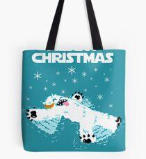Wampa snow angel christmas card Tote Bag