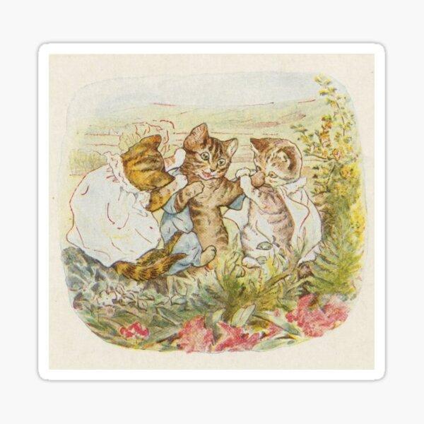 Vintage Kitten Illustration Sticker