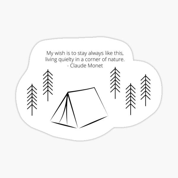 Camping travel quote sticker Sticker