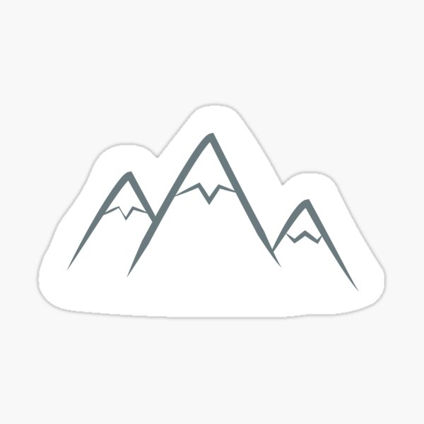 Mountains minimal Sticker