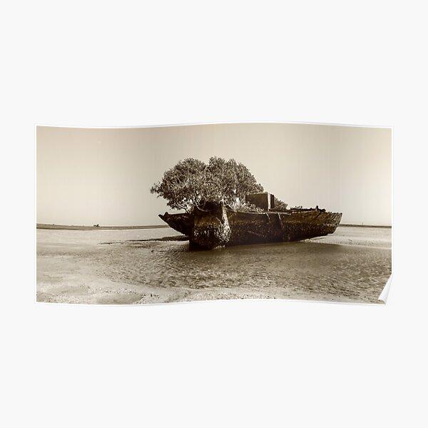 sandbarge at dunwich Poster