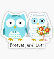 Owls Wedding Bride and Groom Sticker
